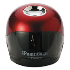 iPoint® Ball Battery Sharpener, Red/Black, 3w x 3d x 3 1/3h