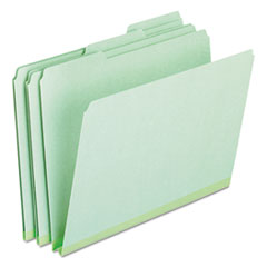 PFX17167 - Pressboard Expanding File Folders, 1/3 Cut Top Tab, Letter, Green, 25/Box