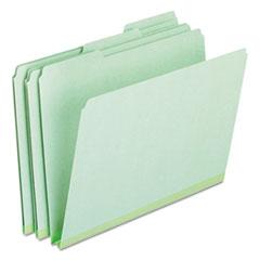 Pressboard Expanding File Folders, 1/3-Cut Tabs, Letter Size, Green, 25/Box