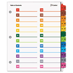 Cardinal® OneStep® Printable Table of Contents and Dividers - Double Column Thumbnail
