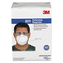 3M™ Particulate Respirator w/Cool Flow Exhalation Valve, 10 Masks/Box