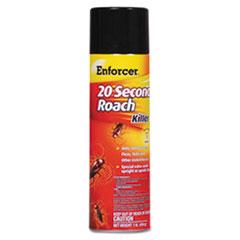 Enforcer® 20-Second Roach Killer, 16 oz Aerosol, Indoor; Outdoor, 12/Carton