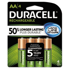 Duracell® Rechargeable StayCharged™ NiMH Batteries with Duralock Power Preserve™ Technology Thumbnail