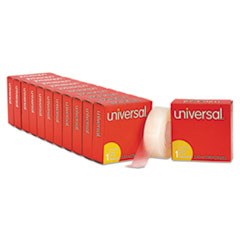 "Universal® Invisible Tape, 1"" Core, 0.75"" x 36 yds, Clear, 12/Pack"