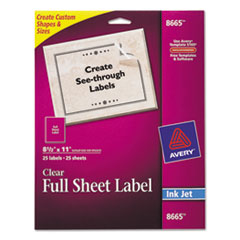 Avery® Clear Easy Peel® Mailing Labels Thumbnail