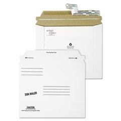 Quality Park™ Economy Disk/CD Mailer, Square Flap, Self-Adhesive Closure, 7.5 x 6.06, White, 100/Carton