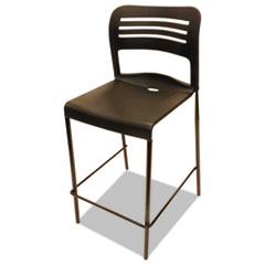 Alera Plus™ Counter Height Stacking Stool, Black, 2/Carton AAPBS612