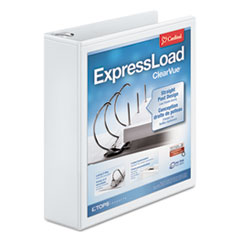 "Cardinal® ExpressLoad ClearVue Locking D-Ring Binder, 2"" Cap, 11 x 8 1/2, White"