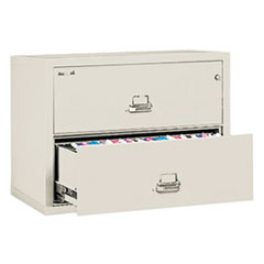 Two-Drawer Lateral File, 31 1/8w x 22 1/8d, UL Listed 350, Ltr/Legal, Parchment