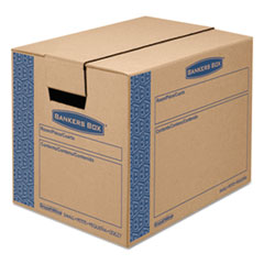 Bankers Box® SmoothMove Prime Small Moving Boxes, 16l x 12w x 12h, Kraft/Blue, 15/CT FEL0062711