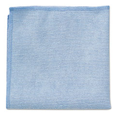 Rubbermaid® Commercial Microfiber Cleaning Cloths, 16 X 16, Blue, 24/Pack