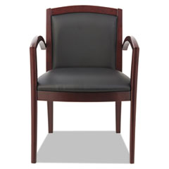 Alera® Reception Lounge 500 Series Arch Back Solid Wood Chair