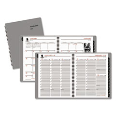 AAG70951W45 - Wounded Warrior Project Weekly/Monthly Appointment Book, 6 7/8 x 8, Gray, 2016