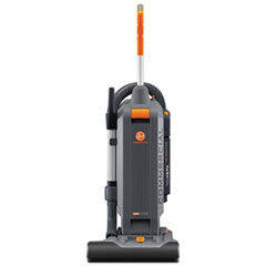 "Hoover® Commercial HushTone Vacuum Cleaner with Intellibelt, 15"", Orange/Gray"