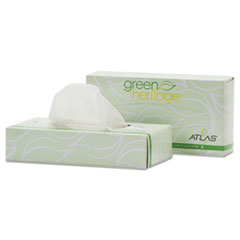 Green Heritage Professional Facial Tissue, 2-Ply, White, 100 Sheets/Box, 72 Boxes/Carton