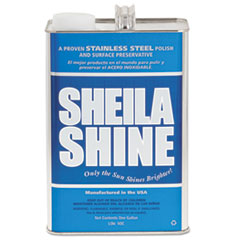 Sheila Shine Stainless Steel Cleaner & Polish, 1 gal Can, 4/Carton