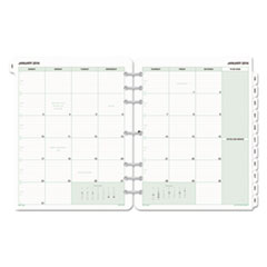 Day-Timer® Monthly Classic Refill, 8 1/2 x 11, White/Green, 2017 DTM873291701