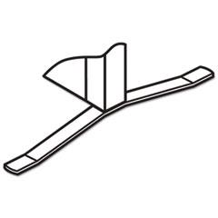 HON® Versé T-Base Foot Connecting Hardware, Gray