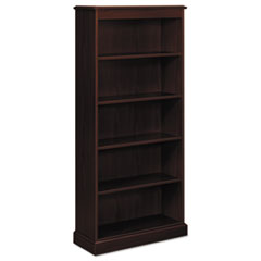 94000 Series Five-Shelf Bookcase, 35-3/4w x 14-5/16d x 78-1/4h, Mahogany