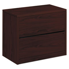 HON® 10500 Series Two-Drawer Lateral File, 36w x 20d x 29-1/2h, Mahogany