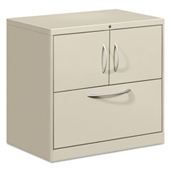 Flagship File Center w/Storage Cabinet & Lateral File, 30 x 18 x 28, Light Gray