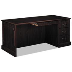"""HON® 94000 Series """"L"""" Desk For Left Return, 66w x 30d x 29.5h, Mahogany"""