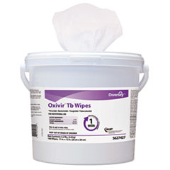 Diversey™ Oxivir TB Disinfectant Wipes, 6 x 7, White, 60/Canister, 12 Canisters/Carton
