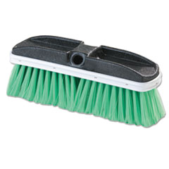 "Flo-Pac® Vehicle Brush, Nylex, Green Bristles, 10"", 2 1/2"" Bristles"