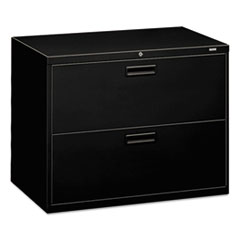 500 Series Two-Drawer Lateral File, 36w x 19-1/4d x 28-3/8h, Black