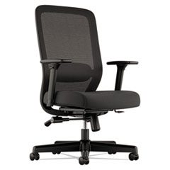 Exposure Mesh High-Back Task Chair, Supports up to 250 lbs., Black Seat/Black Back, Black Base