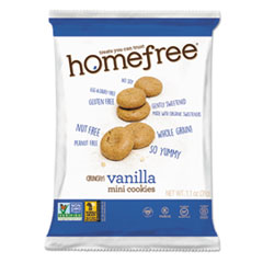 Homefree® Gluten Free Vanilla Mini Cookies, 1.1 oz Pack, 30/Carton