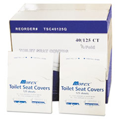 GEN Quarter-Fold Toilet Seat Covers, White, 14 1/2 x 16 1/2, 5000/Carton