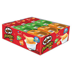 Pringles® Potato Chips, Variety Pack, 0.74 oz Canister, 18/Box