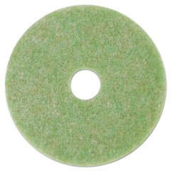 "3M™ Low-Speed TopLine Autoscrubber Floor Pads 5000, 13"" Diameter, Green/Amber, 5/CT"