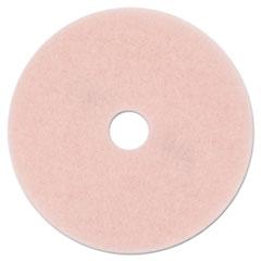 "3M™ Ultra High-Speed Eraser Floor Burnishing Pad 3600, 27"" Diameter, Pink, 5/Carton"