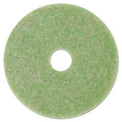 """3M™ Low-Speed TopLine Autoscrubber Floor Pads 5000, 15"""" Diameter, Green/Orange, 5/CT"""