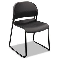 HON® GuestStacker High Density Chairs, Lava Seat/Lava Back, Black Base, 4/Carton
