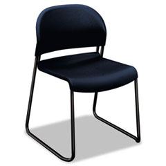 HON® GuestStacker High Density Chairs, Regatta Seat/Regatta Back, Black Base, 4/Carton
