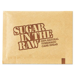 Sugar in the Raw Sugar Packets, Raw Sugar, 0.18 oz Packets, 500 per Carton