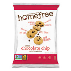 Homefree® Gluten Free Chocolate Chip Mini Cookies, 1.1 oz Pack, 30/Carton