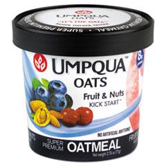 Umpqua™ Oats Super Premium Oatmeal, Kick Start, 2.71 oz Cup, 12/Carton