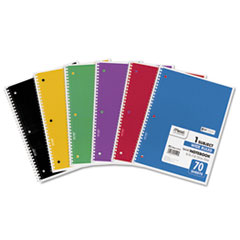 Spiral Bound Notebook, Perforated, Legal Rule, 10 1/2 x 7 1/2, White, 70 Sheets