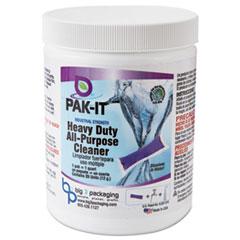 PAK-IT® Heavy-Duty All-Purpose Cleaner, Pleasant Scent, 20 PAK-ITs/Jar, 12/Carton