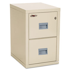 Turtle Two-Drawer File, 17 3/4w x 22 1/8d, UL Listed 350 for Fire, Parchment