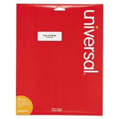 White Labels, Inkjet/Laser Printers, 1 x 2.63, White, 30/Sheet, 25 Sheets/Pack