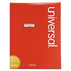 White Labels, Inkjet/Laser Printers, 0.5 x 1.75, White, 80/Sheet, 100 Sheets/Box