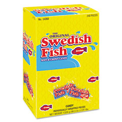 Swedish Fish® Grab-and-Go Candy Snacks In Reception Box, 240-Pieces/Box