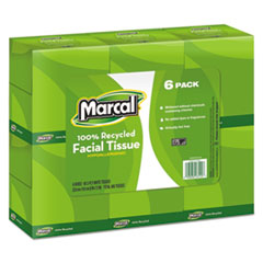 Marcal® 100% Recycled Convenience Pack Facial Tissue Thumbnail