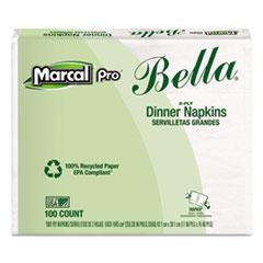 Marcal PRO™ 100% Premium Recycled Bella Dinner Napkins, 15 x 17, White, 3000/Carton