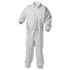 KleenGuard™ A35 Liquid and Particle Protection Coveralls, X-Large, White, 25/Carton